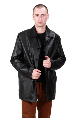 halloween costume&39z: C70-Ramonti Mens Classic Black Leather Car