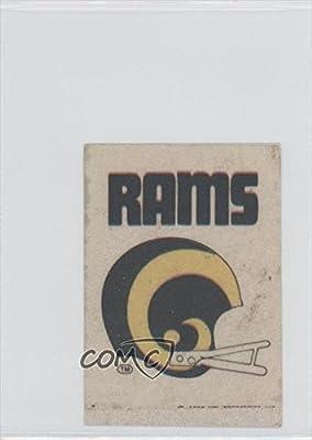 Los Angeles Rams Team (Football Card) 1975 Sunbeam Bread NFL Helmet Cloth Stickers #LA