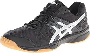 ASICS Women's Gel Upcourt Volleyball Shoe,Black/Silver,9 M US
