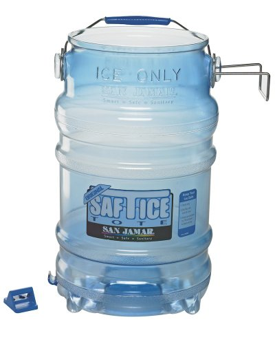 San Jamar SI6000 6-Gallon Clear Saf-T-Ice Ice Tote