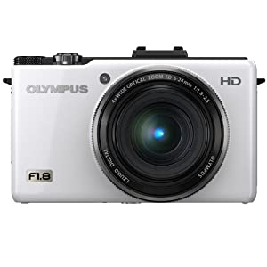 Olympus XZ-1 10 MP Digital Camera with f1.8 Lens and 3-inch OLED Monitor (White)