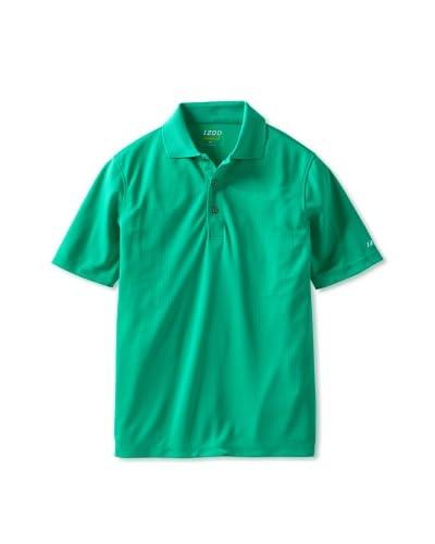 IZOD Golf Men's Short Sleeve Solid Grid Polo