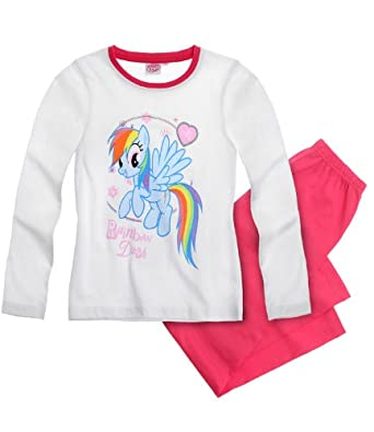New Girls Official Licensed My Little Pony Pyjamas age 2-8 years (Age 2, White)