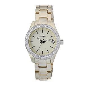 Fossil Women's ES2962 QuartzGolden Dial Aluminum Watch