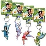 Disney Fairies Tinkerbell Laser Cut Keychain- Rubber Keyring