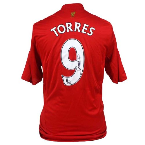 Fernando Torres Signed Liverpool Home Shirt