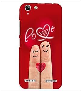 PrintDhaba Love D-2291 Back Case Cover for LENOVO LEMON 3 (Multi-Coloured)