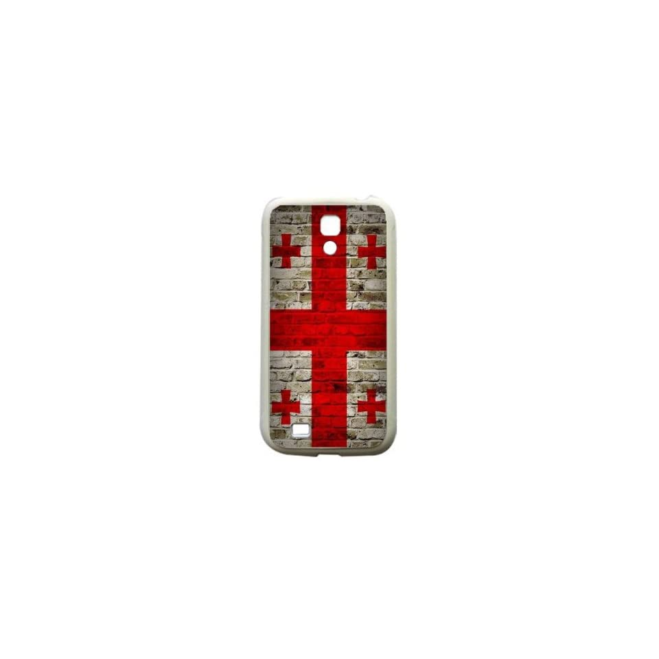 Georgia Brick Wall Flag Samsung Galaxy S4 White Silcone Case   Provides Great Protection