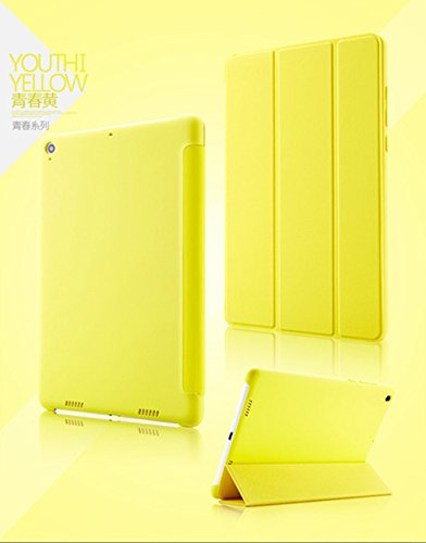 Case Trendz Tri Fold Slim PU leather Flip case cover with Sleep Wake Function for Xiaomi Mi Pad 7.9 Tablet by Case Trendz -- Yellow