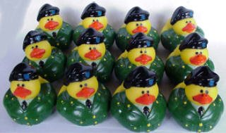 One Dozen (12) US Army Rubber Ducky Party Favors