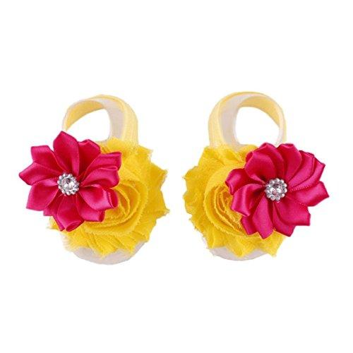 Fulltime®Doux fleurs à la main Barefoot Sandales Pop Pied de bébé de fleur du nourrisson