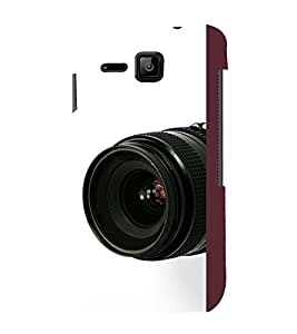 printtech Camera Zoom Back Case Cover for Micromax Bolt S301