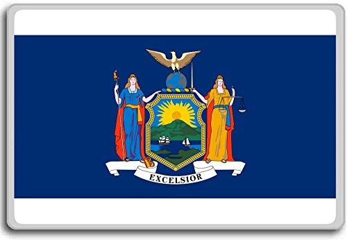 Flag Of New York - Flags of the U.S. states fridge magnet - Calamita da frigo