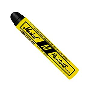 Markal 81923 M Paintstik Annealling and Heat Treating Solid Paint Marker (Up to 1600 F), Black (Pack of 12)