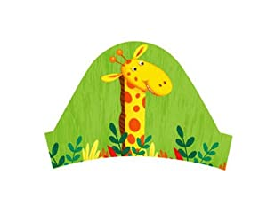 Creative Converting Jungle Buddies Party Headbands, 8 Count