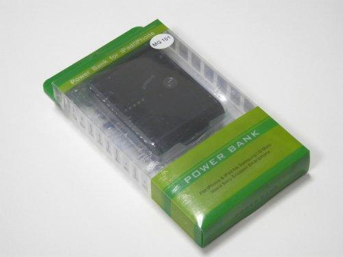 MOBILE-GARAGE 12000mAh 大容量モバイルバッテリー (2.1A+1A 出力ポート/USBケーブル2本付/コネクタ各種) iPhone5/iPhone4S/スマートフォン/携帯/iPad/iPod/Android/Nintendo DSLite/PSP/Wifiルータ 対応 (ブラック(黒))