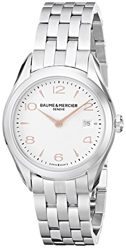 Baume and Mercier Clifton Silver Dial Stainless Steel Ladies Watch