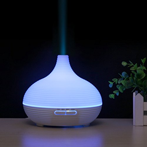 Aromatherapy Essential Ultrasonic Oil Diffuser 300ml Aroma Diffuser Electric Quiet Cool Mist Humidifier for Home Office Massage Baby Room Bedroom Etc