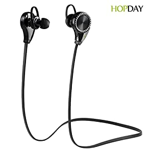 Bluetooth Headphones, HOPDAY Bluetooth Earbuds V4.1 Wireless Sports Headphones Sweatproof Running Gym Stereo Headsets Built-in Mic/APT-X for iPhone 6s 6s plus Galaxy S6 S5 and Android Phones