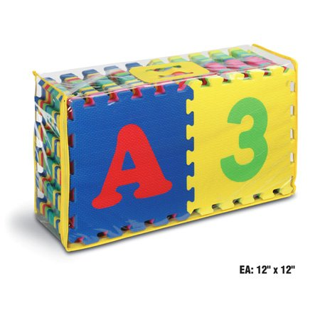 Picture of Kids Touch 12 Inch Foam Alphabet & Number Puzzle Mat 36pcs (B000J58YAO) (Puzzle Play Mats)