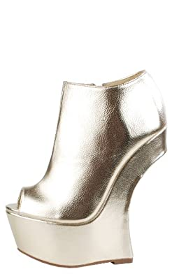 Asassyn Heel Less Sculpted Booties METALLIC GOLD