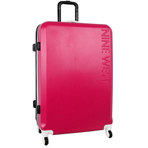 ninewest-fast-track-28-inch-hard-side-spinner-pink-black-one-size