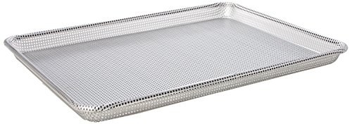 Focus Foodservice Commercial Bakeware 16-Gauge Aluminum Fully Perforated-Sheet Pan, Half Size
