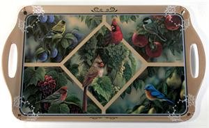 Motorhead Products 11 by 18-Inch Melamine Serving Tray, Featuring Wild Wings Licensed Art with Songbirds by Rosemary Millette