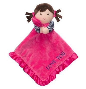 Carter'S Hot Pink I Love You Girl Doll Snuggle Buddy Security Blanket front-173490