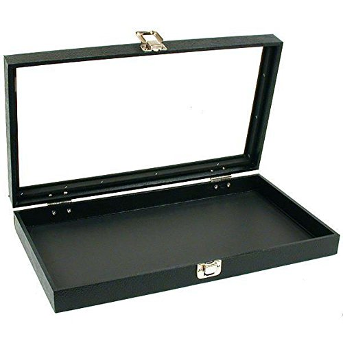 Glass Top Jewelry Pocket Watch Display Travel Case Box (Display Case Countertop compare prices)