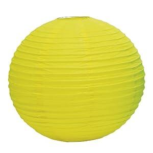 Weddingstar Round Paper Lantern, Large, Lemon Yellow