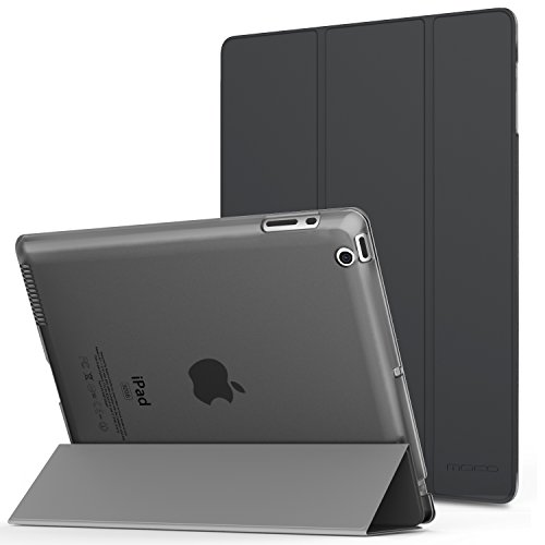 iPad 2 / 3 / 4 Case - MoKo Ultra Slim Lightweight Smart-shell Stand Cover with Translucent Frosted Back Protector for iPad 2 / The NEW iPad 3 (3rd Gen) / iPad 4, Space GRAY (with Auto Wake / Sleep) (Stand Ipad 4 compare prices)