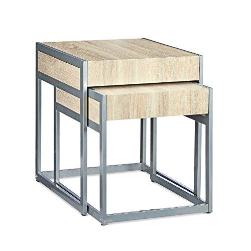 Relaxdays-Beistelltische-2-er-Set-HBT-57-x-48-x-51-cm-Couchtisch-aus-Holz-und-Metall-fr-Sofatisch-und-Kaffeetisch-als-platzsparender-moderner-Satztisch-auch-als-Nachttisch-und-Teetisch-natur-grau