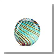 Murano Design Glass Rainbow Pattern Circle Vase