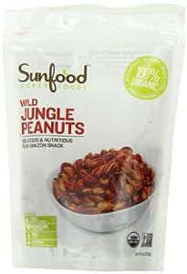 Sunfood Wild Amazonian Jungle Peanuts Organic, Raw, 8-Ounce Bags (Pack of 2)
