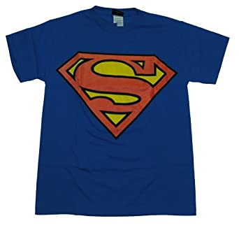 CLASSIC SUPERMAN SHIELD LOGO T SHIRT, Small