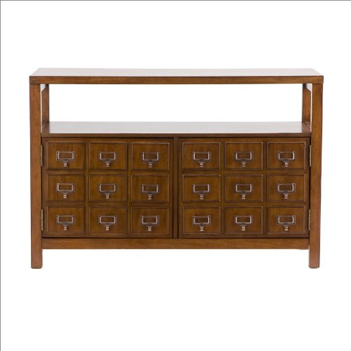 Southern Enterprises Gallipot Double Door Media Stand in Mahogany