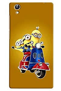 Omanm Printed Minions Travelling on Scooted Cover for Vivo Y51 L