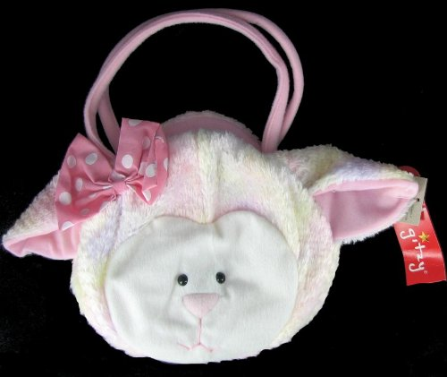 Glitzy Plush Lamb Little Girl Purse front-1055604