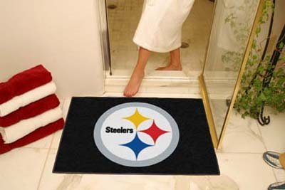 NFL Pittsburgh Steelers Chromo Jet Printed Rectangular Area Rug Floor Mat 45