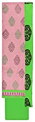 Royal Women's Cotton Unstitched Salwar Suit (Pink and Green)