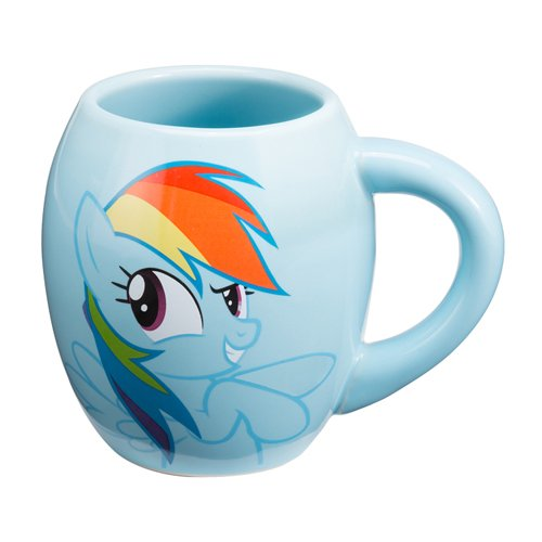 Vandor 42261 My Little Pony Rainbow Dash 18 oz Oval Ceramic Mug, Multicolor (My Little Pony Coffee Cup compare prices)