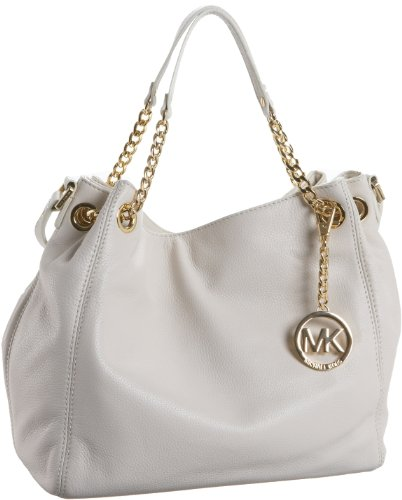 MICHAEL Michael Kors Jet Set Chain Medium Gathered Tote,Vanilla,one size