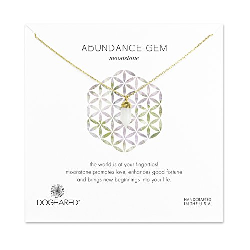dogeared-womens-14ct-gold-dipped-bullet-white-moonstone-faceted-spear-necklace-of-length-4572cm