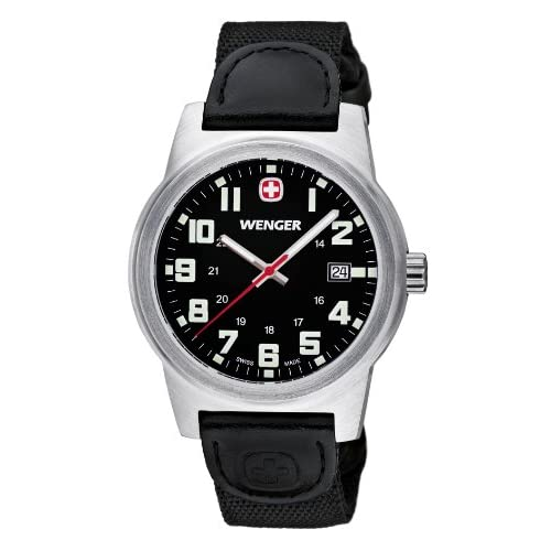 Wenger-Mens-Quartz-Watch-with-Black-Dial-Analogue-Display-and-Black-Nylon-Strap