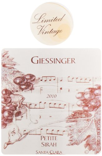 2010 Giessinger Petite Sirah Private Reserve, Dry Farming/Wild Yeast, Monterey 750 Ml