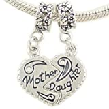 Mother Daughter Bead Charms Compatible with European Bracelet thumbnail