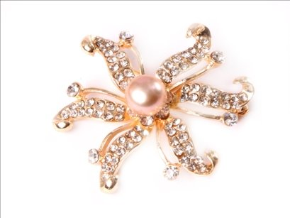 9-10mm purplefreshwater pearl beads with yellow gold plated starfish brooch 48mm