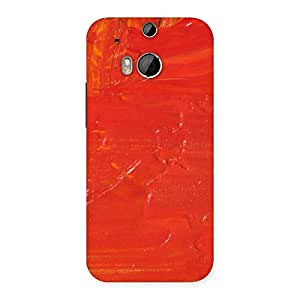 Cute Orange Paint Texture Back Case Cover for HTC One M8