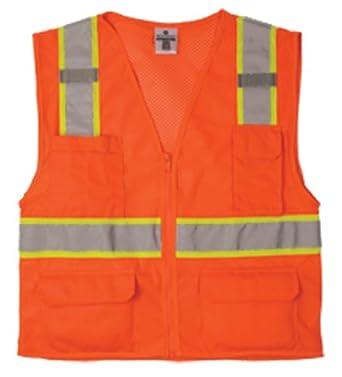 ML Kishigo Ultra-Cool Polyester Mesh Multi-Pocket Vest, Orange